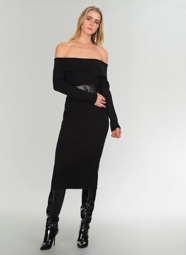 People By Fabrika Carmen Yaka Elbise Siyah